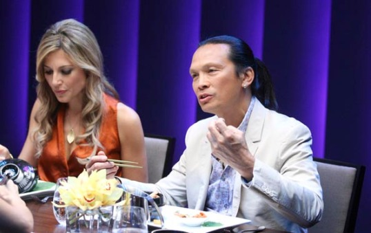Top Chef Canada – Thea Andrews and Susur Lee, Episode 4 (photo courtesy of Food Network Canada/Insight Productions)
